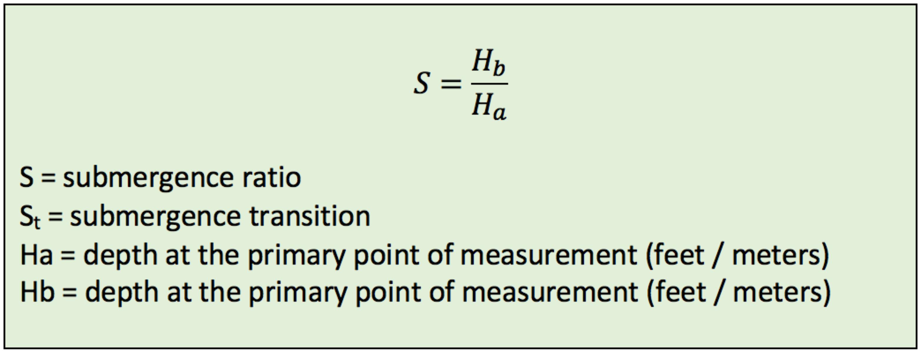 submegence-ratio-equation